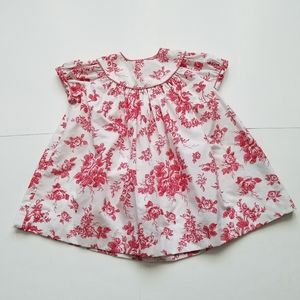 Kelly's Kids red roses English tea dress 12 months